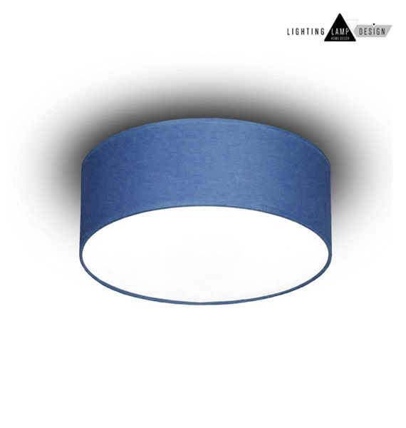 Blue flush mount ceiling ceiling lamp shade blue kids like this item mozeypictures Image collections