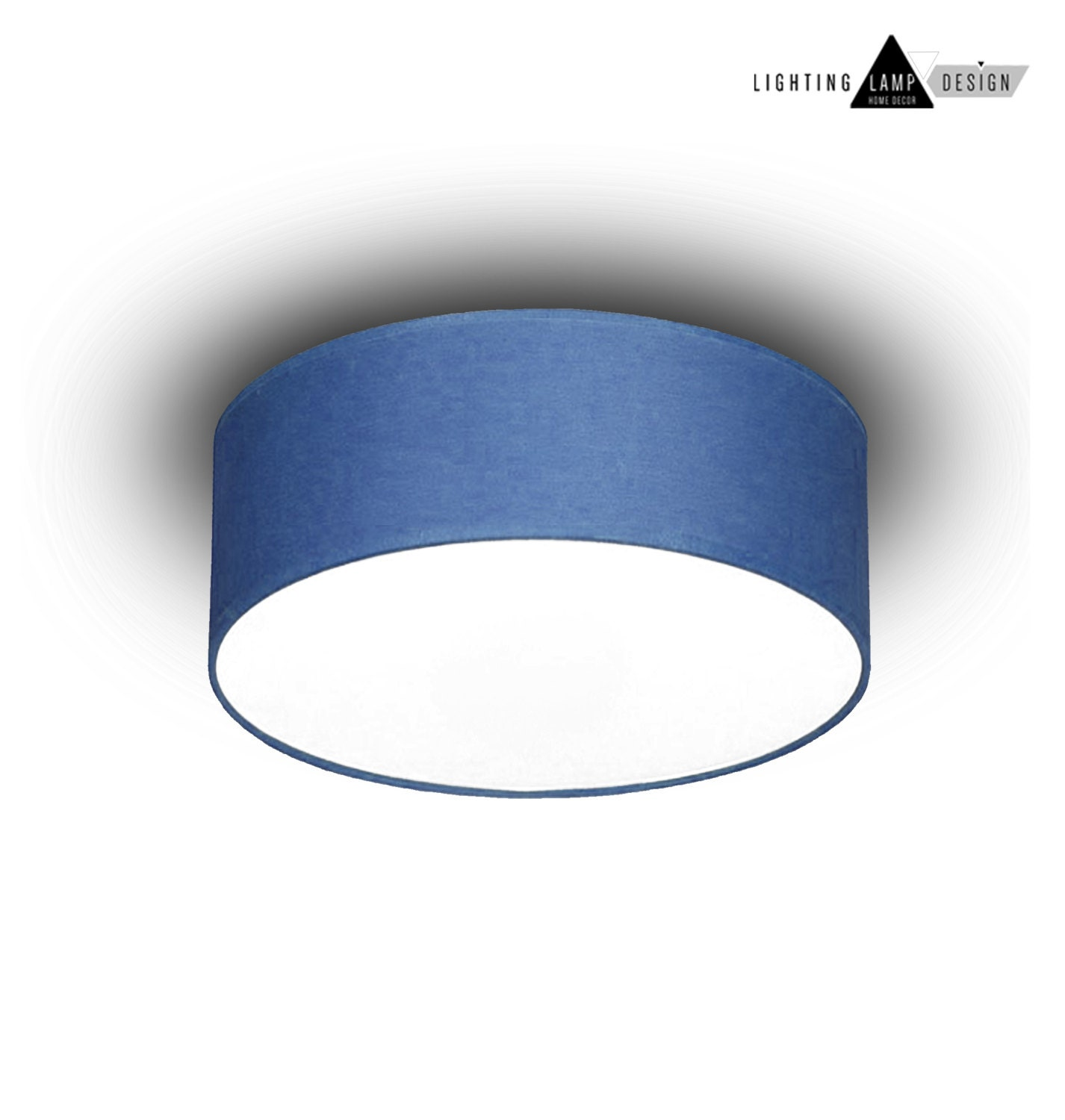 Blue flush mount ceiling ceiling lamp shade blue kids zoom aloadofball Image collections