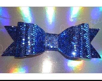 Glitter Double Stack Bow ( Royal Blue)