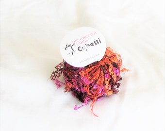 Cubetti 1059, Trendsetter, novelty yarn, Passion colorway, carryalong yarn, effect yarn, destash