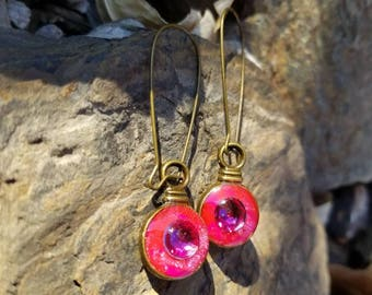 Hot Pink Gypsy / earrings / One of a kind  / gift idea