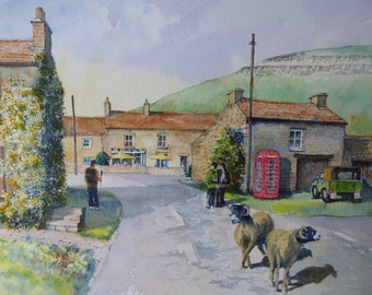 The Red Telephone Box, Thwaite Village, Swaledale