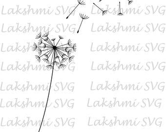 Dandelion Flower svg, dandelion svg, Garden Plant svg, EPS .PNG Instant Digital Clipart Vector Cricut Cut Cutting Download File