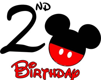 Mickey Mouse Birthday Shirt (Age 2)