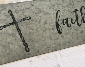 Black Faith | Decorative Metal Sign