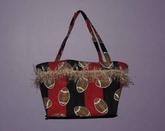 Football handbag/Sports Handbag/Auburn Handbag/Alabama Handbag/Sports Team Bags/Crimson bag/Orange Blue Bag/