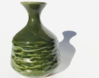 Small Green Textured Vase