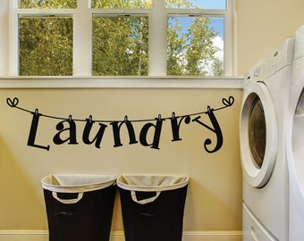 Laundry Room Wall Decals - Laundry Room Decal - Laundry Room Wall Decor - Laundry Wall Decals - Laundry Signs - Laundry Room Signs - Decals