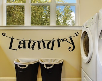 Merveilleux Laundry Room Wall Decals   Laundry Room Decal   Laundry Room Wall Decor    Laundry Wall