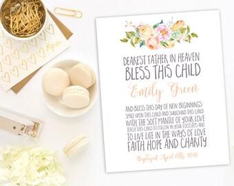 First Communion God parent Gift Dedication Girl  Christianing Baptism Girl gift Baby Name Sign Graduation Gift Girl bible virse idb126