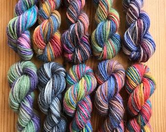 OPAL Sock Yarn Mini Skein Set #6 -- 10 Mini Skeins/25 Yards Each