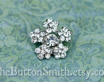 Rhinestone Buttons -Noelle- (19mm) RS-038 - 5 piece set