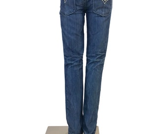 Vintage Indian Rock Culture Skinny Boot Cut Jeans, size 27
