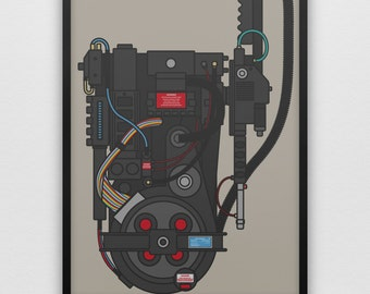 Don't Cross The Streams! Ghostbusters Proton Pack 1980s Movie Film Retro Minimalistic Style Geek Who Ya Gonna Call Ghost Slimer Ecto-1