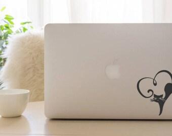 Cat Decal Laptop - Cat Decal - Cat Decal Car - Cat Vinyl Decal  - Cat Decal Sticker - Cat Lover Gift - Gift for Her - Birthday Gift