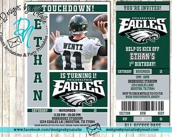 Philadelphia Eagles Football Invitation