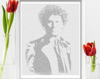 Dr Who Text Art, The Sixth Doctor Who Wall Art, Colin Baker Whovian Gift for Men, Sci Fi Print (AU)