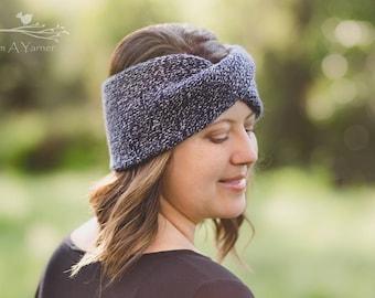 Blue Twisted Headband, Boho Earwarmer, Adult Headbands, Hair Accessories, Girls Headbands, Stretchy Headband, Winter Turban Headwrap, Knit