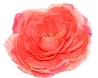 Salmon Pink Ranunculus - Silk Flowers, Artificial Flowers