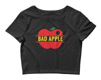 Just a Bad Apple Women's Crop Tee