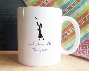 Custom Graduation Mug, Graduate, Class