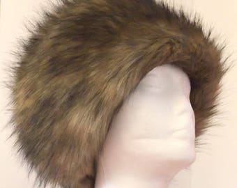 The Golden Fox - Deluxe Faux Fur Hat lined in Polartec fleece