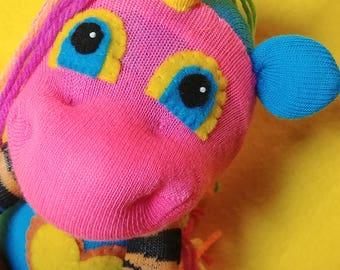 "Jun - 13.5"" Sock Unicorn Plush - Handmade Plush Doll"