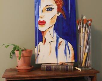 Abstract portrait- acrylic on canvas