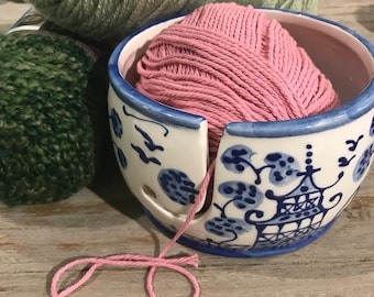 Chinoiserie Yarn Bowl  Blue **  copywrited design