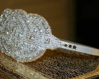 Art Deco Headband - Glam Headband for Brides with Art Deco Design