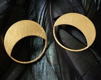 Boucles d'oreilles or plaqué Crescent.