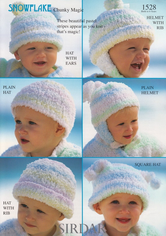 Baby Hat Knitting Patterns - Sirdar Snowflake Chunky Magic Knitting ...