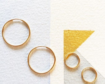 Pretty 14K Gold Filled Hoop Earrings! Available in Two Sizes 12mm or 20mm
