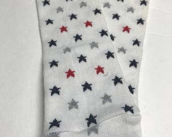 Handmade Baby Toddler Child Leg and Arm Warmers - Patriotic Stars