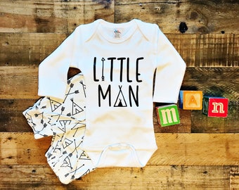 Little Man / Baby Bodysuit / Baby Boy / Boy Clothing / Baby Clothing / Baby Gift / Baby Shower / Newborn / Coming Home Outfit