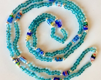 Millefiore Glass Beaded Necklace