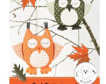 BABY OWL SEWING Pattern. owl sewing pattern. owl patchwork. pincushion pattern. owl pdf sewing pattern. pdf sewing pattern. © Blue Owl Land
