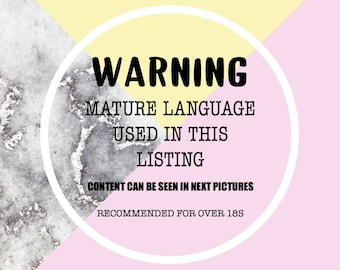 Sweary cuss word Planner Stickers for use in ERIN CONDREN LIFEPLANNER ™, Happy Planner, Tn, Midori,