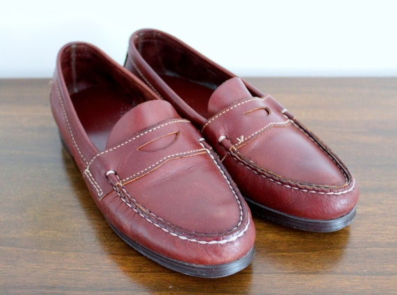 M Penny Brown Dexter Leather Woman's Loafers Loafers 8 Size WZvWxn