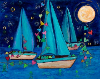 Print Boats and Love Abundant Journey 8x10 by Elizabeth Claire