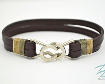 Genuine Leather Strap Bracelet