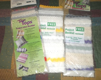 Set of 3 Trim Tops Sew Over Lace Panels
