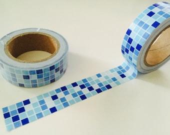 Blue Colorblock Washi Tape