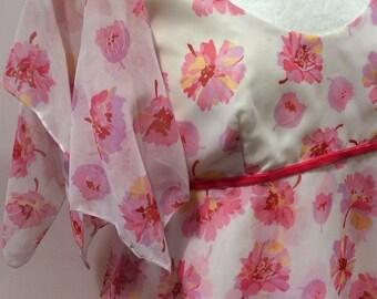 70s romantic maxi dress