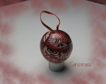 Brown and copper ornament