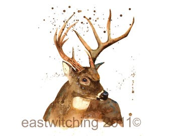 STAG Print in watercolor