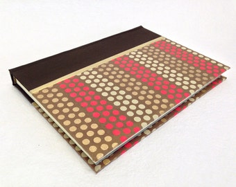Handmade Journal with Multi-Colored Dots Pattern