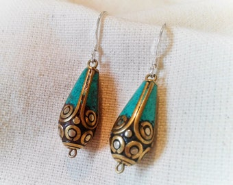 Earrings ethnic chic Nepal