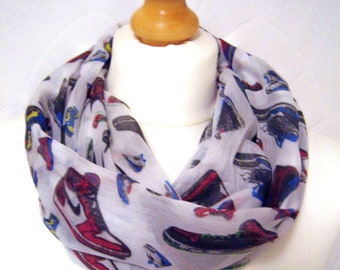 Infinity scarf loop scarf trainers scarf sneakers scarf shoes scarf