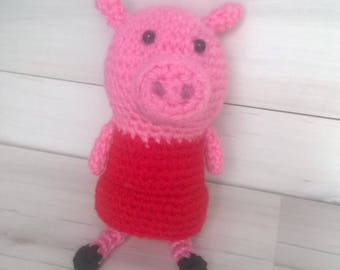 Cute Pig Knitted Toy
